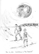 in Meniscus: Crossing The Churn, my two main characters have to find their way across a desert and cope with sandstorms and scarce water